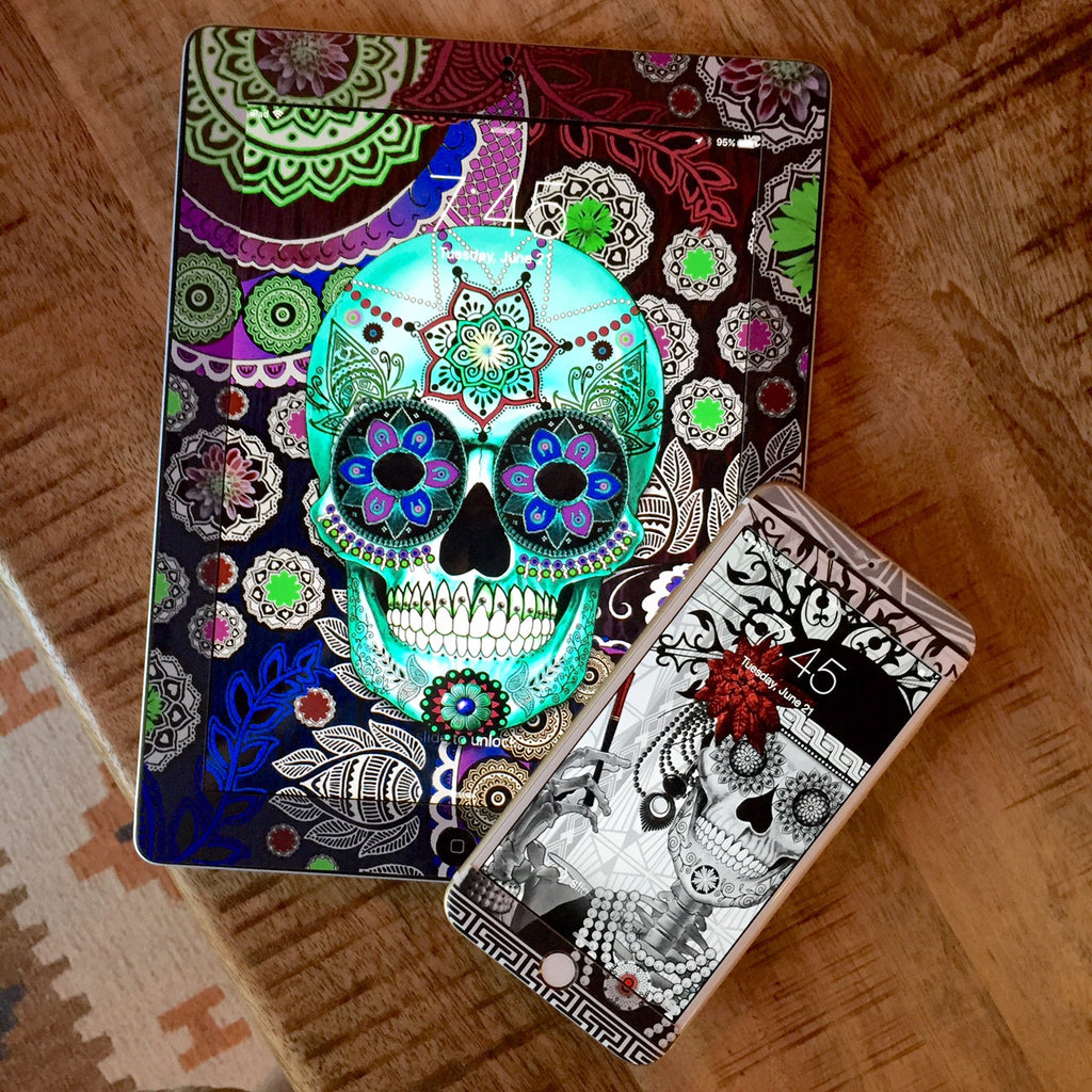 New Mexico Dia De Los Muertos Artist Fusion Idol - New Designs Available For Device Skins From Decal Girl