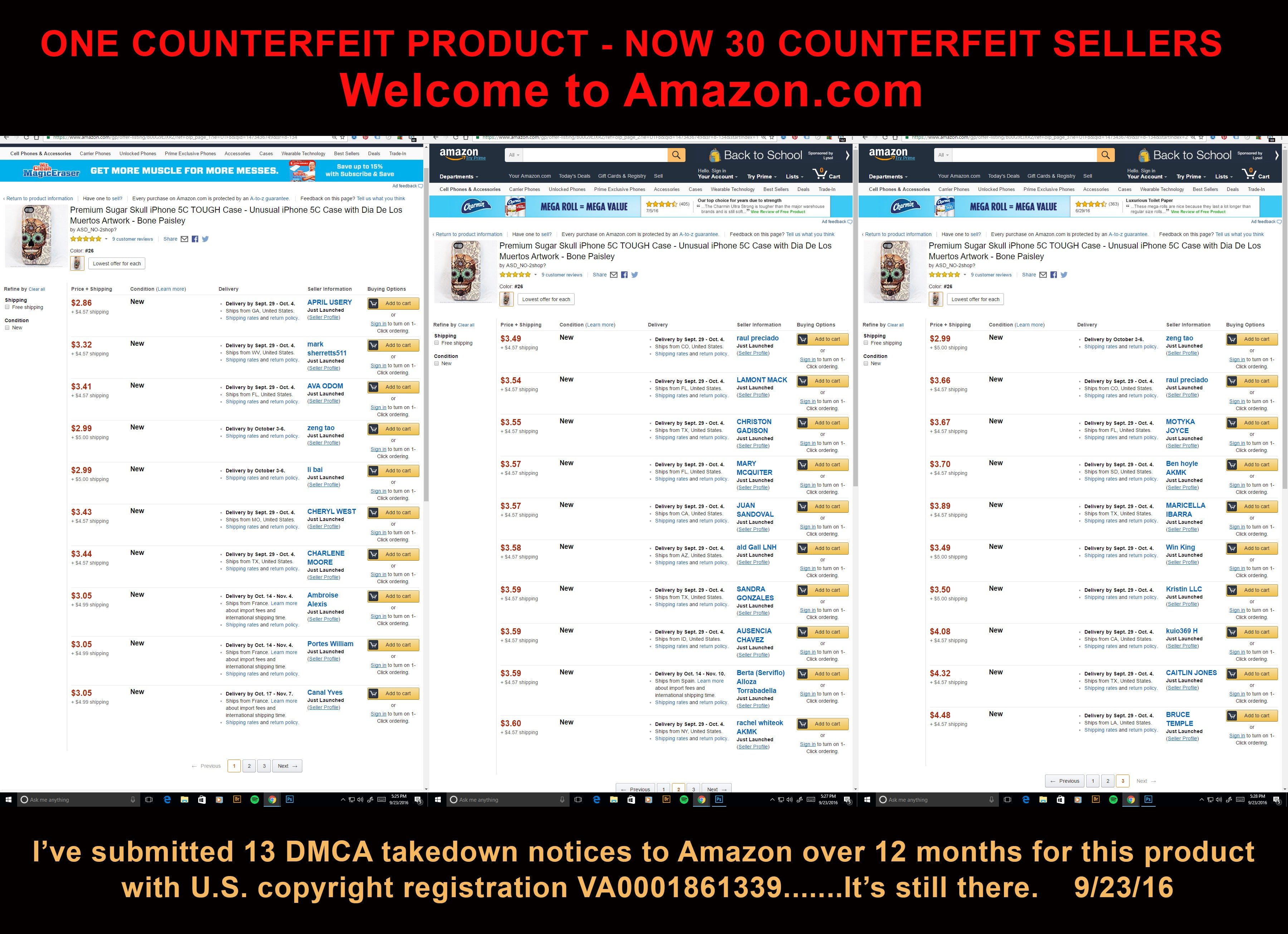 Artists Unite Against Amazon - Stop Selling Counterfeit