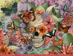 Butterfly Botaniskull by New Mexico Sugar Skull artist Christopher Beikmann