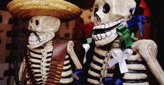 Smiling Day of the Dead Celebration Skeletons