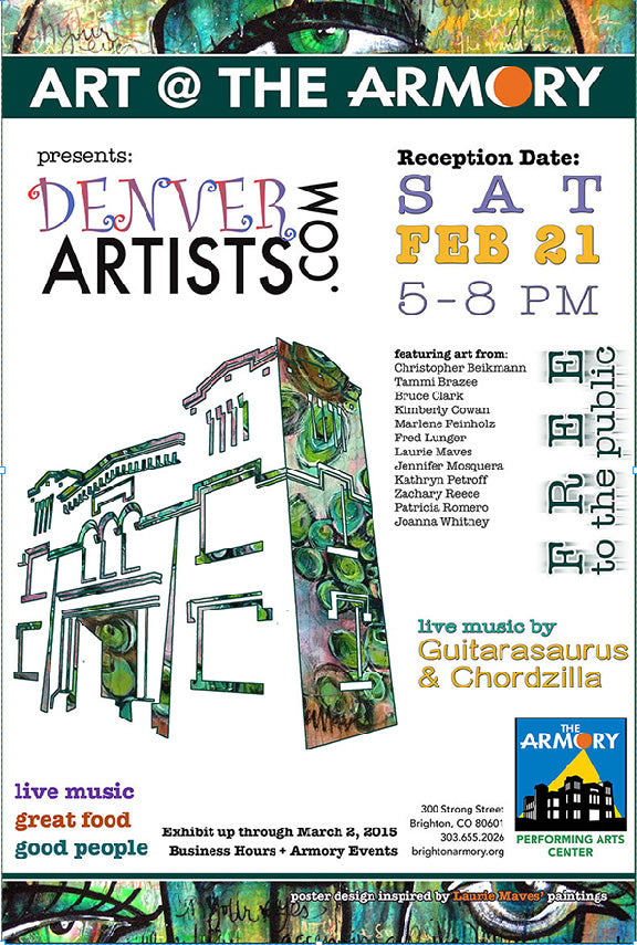 Art at the armory - featuring the artwork of Christopher Beikmann - February 2015, Brighton Colorado
