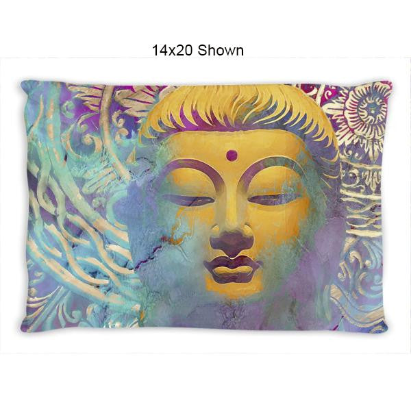 Colorful Pastel Zen Buddha Art Throw Pillow - Light of Truth - Throw Pillow - Fusion Idol Arts - New Mexico Artist Christopher Beikmann