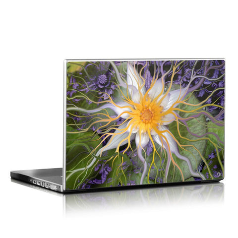 Bali Dream Flower - Purple and Green Tropical Lotus Flower Laptop Vinyl Skin Decal - Fusion Idol Arts