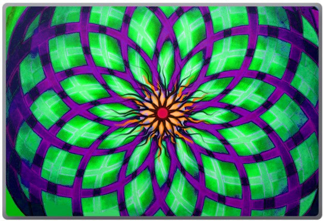 Kalotuscope - Geometric Abstract Lotus Flower Laptop Vinyl Skin Decal - Laptop Skin Decal - Fusion Idol Arts - New Mexico Artist Christopher Beikmann