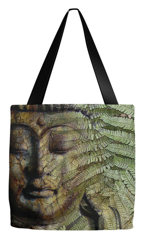 Fern Buddha Art Tote Bag - Convergence of Thought - Tote Bag - Fusion Idol Arts - New Mexico Artist Christopher Beikmann