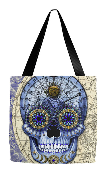 Astrology Steampunk Skull Tote Bag - Astrologiskull - Tote Bag - Fusion Idol Arts - New Mexico Artist Christopher Beikmann
