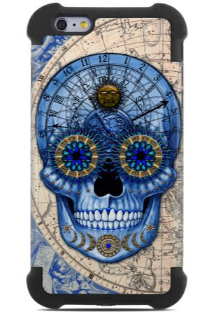 Astrological Sugar Skull - Astrologiskull - iPhone 6 Plus - 6s Plus SUPER BUMPER Case - iPhone 6 6s Plus SUPER BUMPER Case - Fusion Idol Arts - New Mexico Artist Christopher Beikmann
