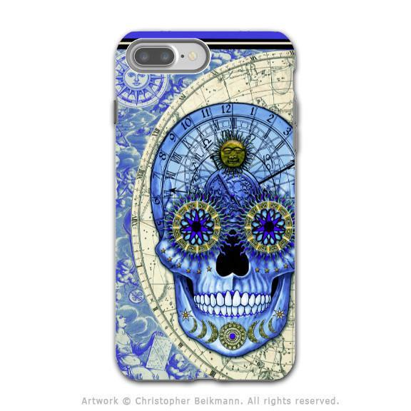 Astrological Steampunk Skull - Artistic iPhone 8 PLUS Tough Case - Dual Layer Protection - Astrologiskull - iPhone 8 Plus Tough Case - Fusion Idol Arts - New Mexico Artist Christopher Beikmann