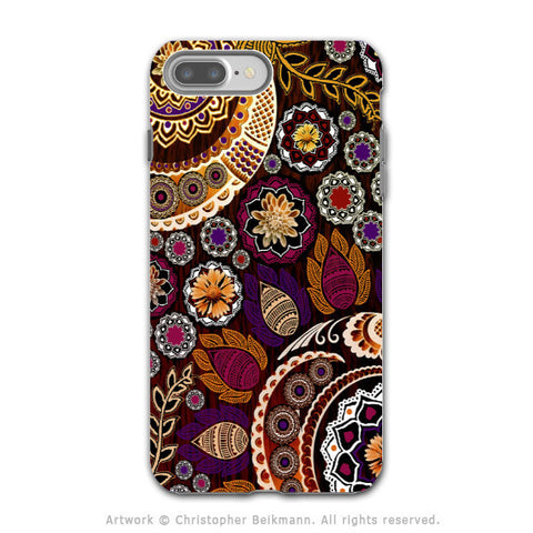 Autumn Paisley Mehndi - Artistic iPhone 7 PLUS Tough Case - Dual Layer Protection - Autumn Mehndi - iPhone 7 Plus Tough Case - Fusion Idol Arts - New Mexico Artist Christopher Beikmann