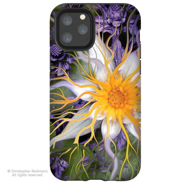 Bali Dream Flower - iPhone 11 / 11 Pro / 11 Pro Max Tough Case - Dual Layer Protection for Apple iPhone XI - Abstract Floral Art Case - iPhone 11 Tough Case - Fusion Idol Arts - New Mexico Artist Christopher Beikmann