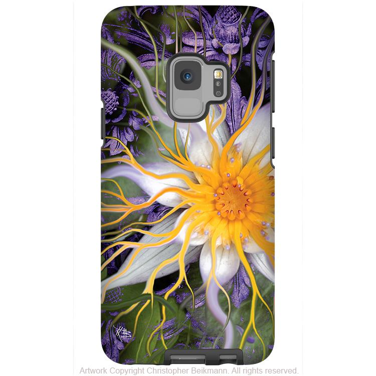Bali Dream Flower - Galaxy S9 / S9 Plus / Note 9 Tough Case - Dual Layer Protection for Samsung S9 - Premium Art Case - Galaxy S9 / S9+ / Note 9 - Fusion Idol Arts - New Mexico Artist Christopher Beikmann