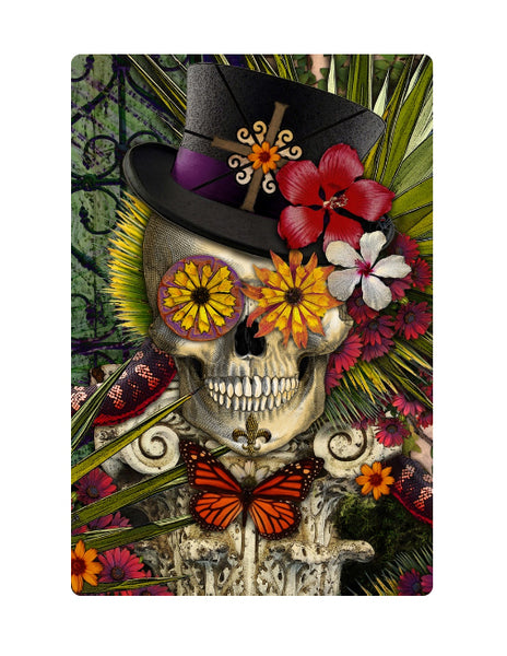 Baron in Bloom - Botaniskull - 24x36 metal print - Metal Print - Fusion Idol Arts - New Mexico Artist Christopher Beikmann