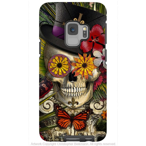 New Orleans Voodoo Sugar Skull - Galaxy S9 / S9 Plus / Note 9 Tough Case - Dual Layer Protection - Galaxy S9 / S9+ / Note 9 - Fusion Idol Arts - New Mexico Artist Christopher Beikmann
