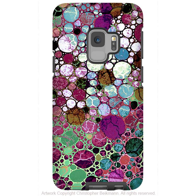 Berry Bubbles - Galaxy S9 / S9 Plus / Note 9 Tough Case - Dual Layer Protection for Samsung S9 - Premium Art Case - Galaxy S9 / S9+ / Note 9 - Fusion Idol Arts - New Mexico Artist Christopher Beikmann