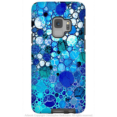 Blue Bubbles - Galaxy S9 / S9 Plus / Note 9 Tough Case - Dual Layer Protection for Samsung S9 - Premium Art Case - Galaxy S9 / S9+ / Note 9 - Fusion Idol Arts - New Mexico Artist Christopher Beikmann