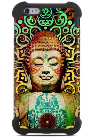Tribal Buddha iPhone 6 Plus - 6s Plus Case - Heart of Transcendence - SUPER BUMPER Case - iPhone 6 6s Plus SUPER BUMPER Case - Fusion Idol Arts - New Mexico Artist Christopher Beikmann