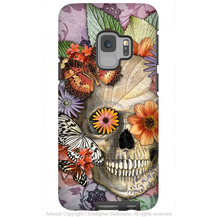 Butterfly Sugar Skull - Galaxy S9 / S9 Plus / Note 9 Tough Case - Dual Layer Protection - Galaxy S9 / S9+ / Note 9 - Fusion Idol Arts - New Mexico Artist Christopher Beikmann