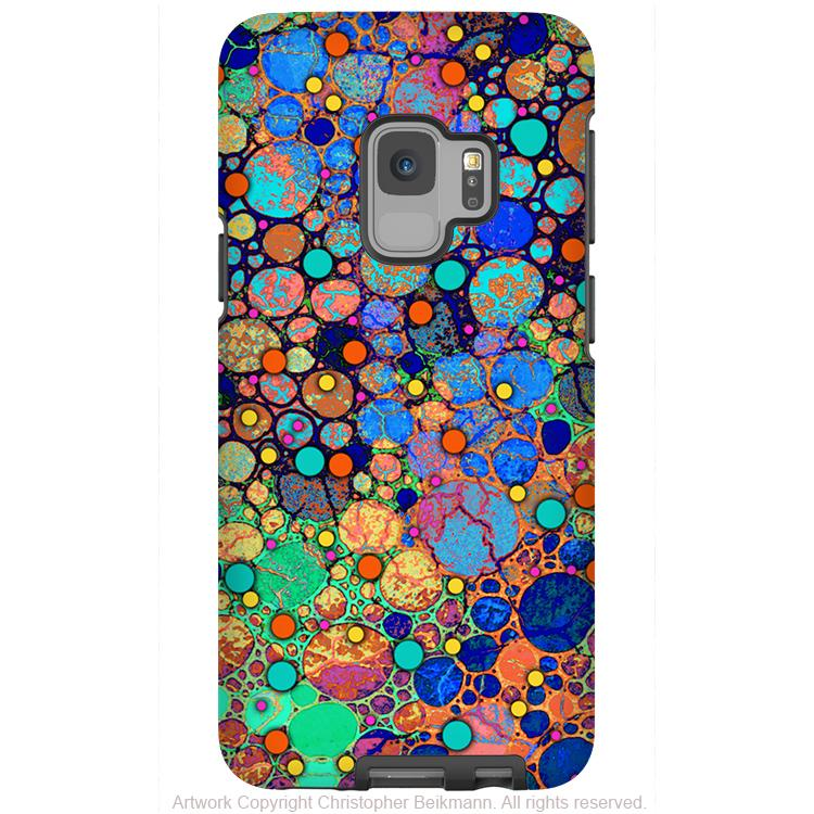Confetti Bubbles - Galaxy S9 / S9 Plus / Note 9 Tough Case - Dual Layer Protection for Samsung S9 - Colorful Art Case - Galaxy S9 / S9+ / Note 9 - Fusion Idol Arts - New Mexico Artist Christopher Beikmann