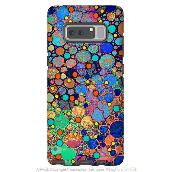 Colorful Abstract Galaxy Note 8 Case - Artistic Case for Samsung Galaxy Note 8 - Confetti Bubbles - Galaxy Note 8 Tough Case - Fusion Idol Arts - New Mexico Artist Christopher Beikmann