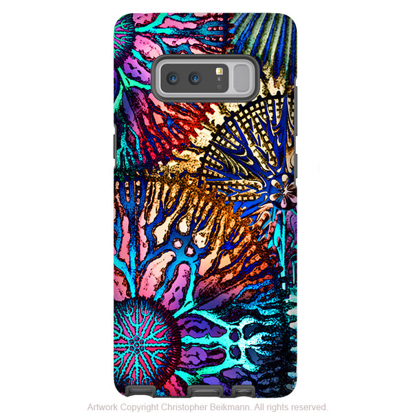 Abstract Coral Galaxy Note 8 Case - Colorful Coral Reef Art Case for Samsung Galaxy Note 8 - Cosmic Star Coral - Galaxy Note 8 Tough Case - Fusion Idol Arts - New Mexico Artist Christopher Beikmann