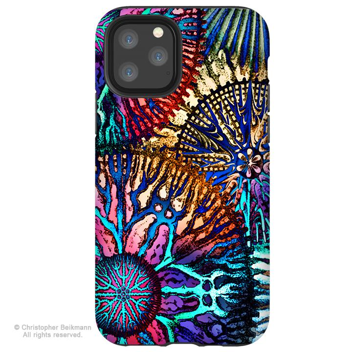 Cosmic Star Coral - iPhone 11 / 11 Pro / 11 Pro Max Tough Case - Dual Layer Protection for Apple iPhone XI - Colorful Abstract Art Case - iPhone 11 Tough Case - Fusion Idol Arts - New Mexico Artist Christopher Beikmann