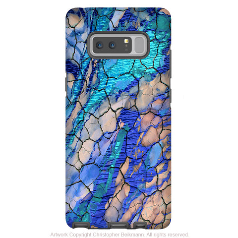 Blue Desert Abstract Galaxy Note 8 Case - Artistic Case for Samsung Galaxy Note 8 - Desert Memories - Galaxy Note 8 Tough Case - Fusion Idol Arts - New Mexico Artist Christopher Beikmann