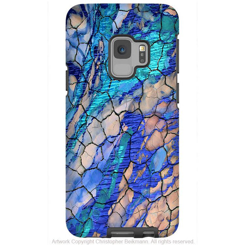 Desert Memories - Galaxy S9 / S9 Plus / Note 9 Tough Case - Dual Layer Protection for Samsung S9 - Blue Abstract Art Case - Galaxy S9 / S9+ / Note 9 - Fusion Idol Arts - New Mexico Artist Christopher Beikmann