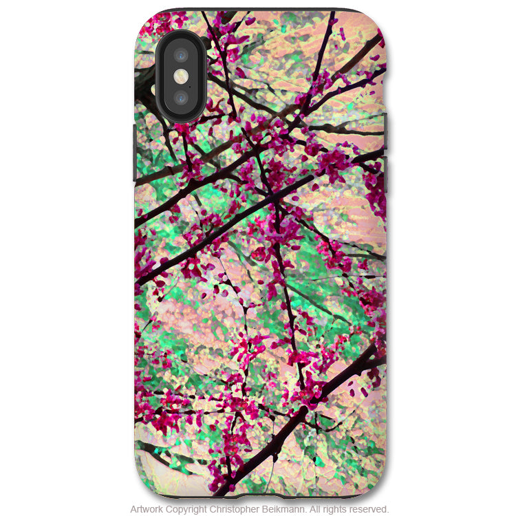 Eternal Spring - iPhone X Tough Case - Dual Layer Protection for Apple iPhone 10 - Floral Art Case - iPhone X Tough Case - Fusion Idol Arts - New Mexico Artist Christopher Beikmann