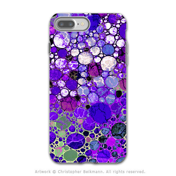 Purple Bubble Abstract - Artistic iPhone 7 PLUS - 7s PLUS Tough Case - Dual Layer Protection - Grape Bubbles - iPhone 7 Plus Tough Case - Fusion Idol Arts - New Mexico Artist Christopher Beikmann
