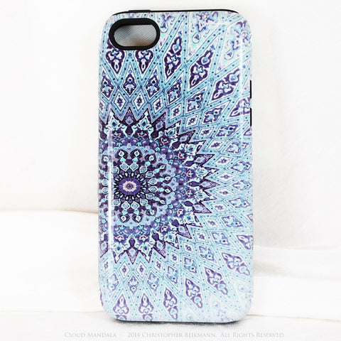 Cloud Mandala iPhone 5c case - Blue Zen Buddhist Abstract Art 5c Tough Case - iPhone 5c TOUGH Case - Fusion Idol Arts - New Mexico Artist Christopher Beikmann