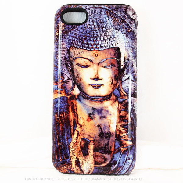 "Blue Buddha iPhone 5c TOUGH Case - Unique Buddhist Art ""Inner Guidance"" Zen Meditation iPhone 5c Case - iPhone 5c TOUGH Case - Fusion Idol Arts - New Mexico Artist Christopher Beikmann"