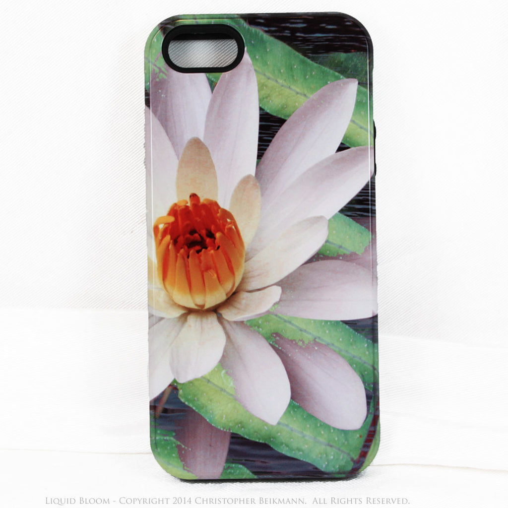 Artistic iPhone 5s SE TOUGH Case - Liquid Bloom - Lotus Flower Art -  Artisan Case for iPhone 5s SE - iPhone 5 5s TOUGH Case - Fusion Idol Arts - New Mexico Artist Christopher Beikmann