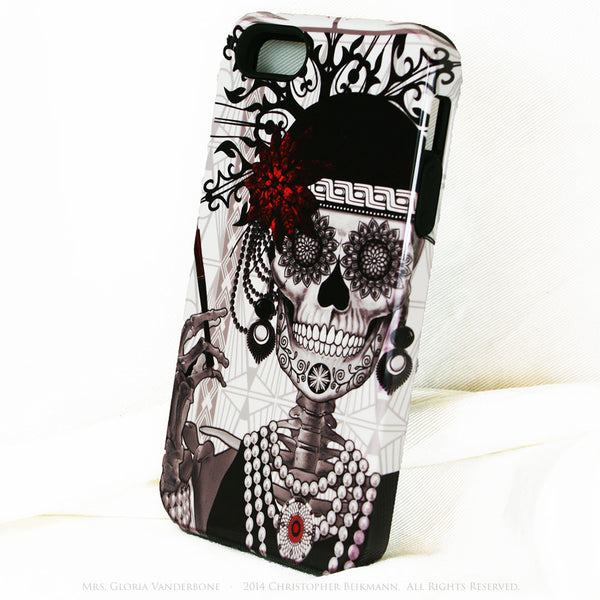 Flapper Girl Skull iPhone 5s SE TOUGH Case - 1920s Art Deco Sugar Skull iPhone Case - Day of the Dead - Artistic Case For iPhone 5s SE - iPhone 5 TOUGH Case - 2