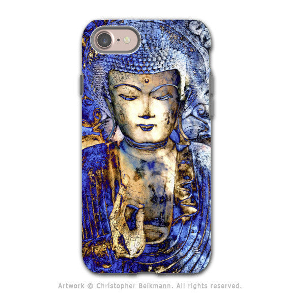 Blue Buddha Art - Artistic iPhone 7 Tough Case - Dual Layer Protection - Inner Guidance - iPhone 7 Tough Case - Fusion Idol Arts - New Mexico Artist Christopher Beikmann