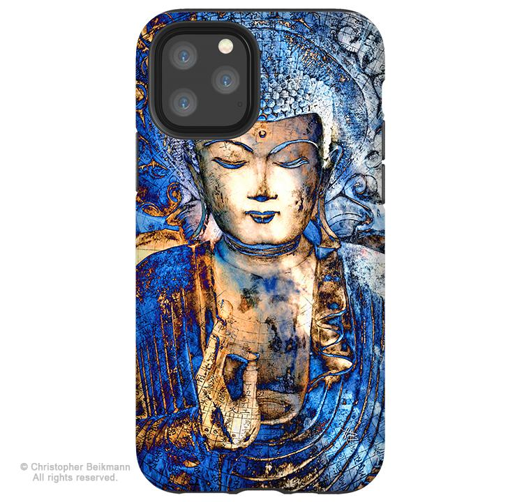 Inner Guidance Buddha - iPhone 11 / 11 Pro / 11 Pro Max Tough Case - Dual Layer Protection for Apple iPhone XI - Blue Buddha Art Case - iPhone 11 Tough Case - Fusion Idol Arts - New Mexico Artist Christopher Beikmann