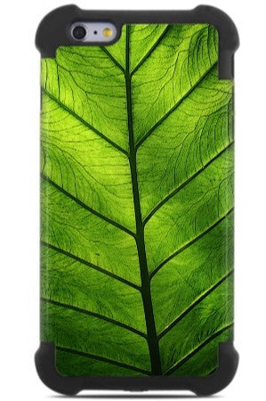 Green Leaf iPhone 6 Plus - 6s Plus Case - Leaf of Knowledge - SUPER BUMPER Case - iPhone 6 6s Plus SUPER BUMPER Case - Fusion Idol Arts - New Mexico Artist Christopher Beikmann