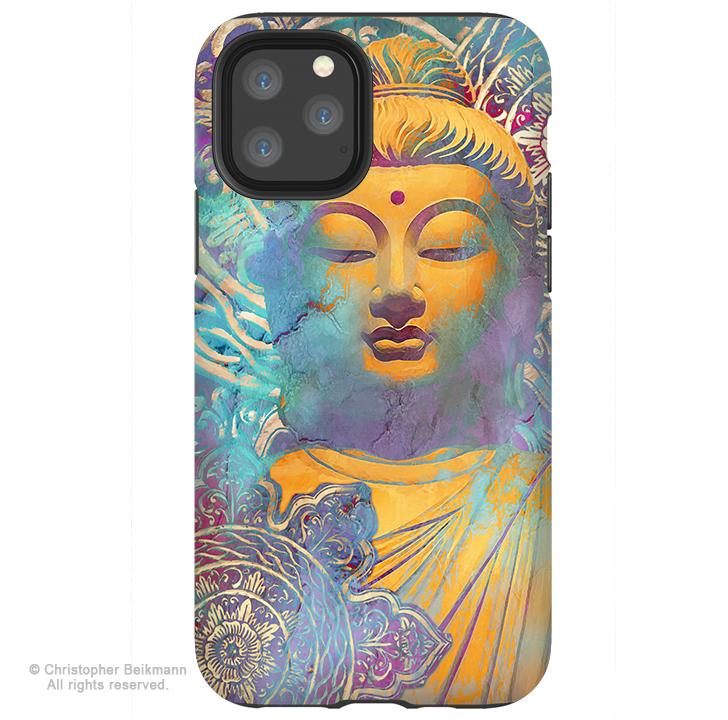 Light of Truth Buddha - iPhone 11 / 11 Pro / 11 Pro Max Tough Case - Dual Layer Protection for Apple iPhone XI - Pastel Buddha Art Case - iPhone 11 Tough Case - Fusion Idol Arts - New Mexico Artist Christopher Beikmann