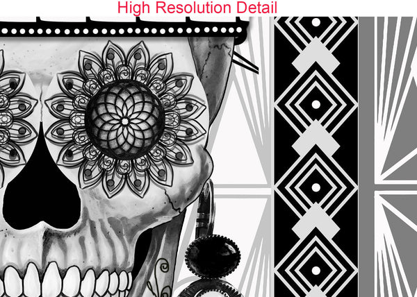 1920's Flapper Girl Sugar Skull Canvas Print - Mrs Gloria Vanderbone - Premium Canvas Gallery Wrap - Fusion Idol Arts - New Mexico Artist Christopher Beikmann