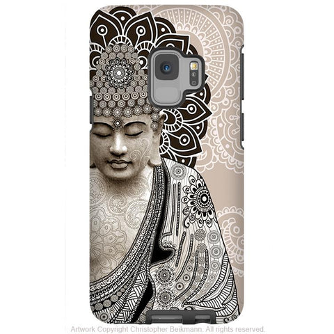 Meditation Mehndi - Paisley Buddha - Galaxy S9 / S9 Plus / Note 9 Tough Case - Dual Layer Protection for Samsung S9 - Galaxy S9 / S9+ / Note 9 - Fusion Idol Arts - New Mexico Artist Christopher Beikmann