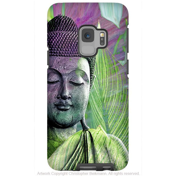 Meditation Vegetation - Green Zen Buddha - Galaxy S9 / S9 Plus / Note 9 Tough Case - Dual Layer Protection for Samsung S9 - Galaxy S9 / S9+ / Note 9 - Fusion Idol Arts - New Mexico Artist Christopher Beikmann