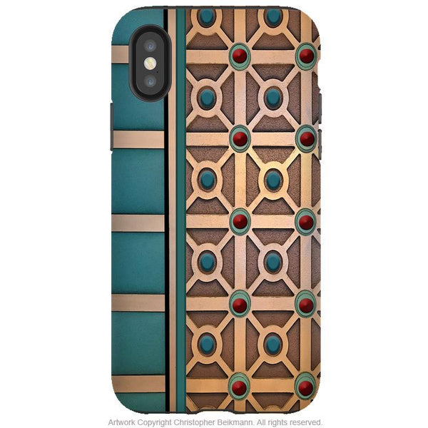 Mid-Century Revival - iPhone X / XS / XS Max / XR Tough Case - Dual Layer Protection for Apple iPhone 10 - Retro Geometric Art Case - iPhone X Tough Case - Fusion Idol Arts - New Mexico Artist Christopher Beikmann