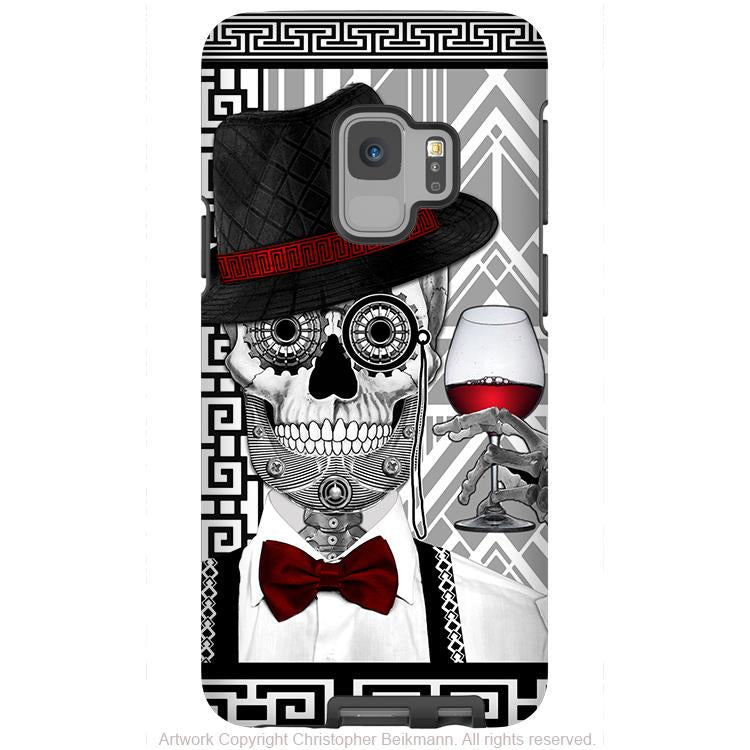 1920s Gentleman Sugar Skull - Galaxy S9 / S9 Plus / Note 9 Tough Case - Dual Layer Protection for Samsung S9 - Mr JD Vanderbone - Galaxy S9 / S9+ / Note 9 - Fusion Idol Arts - New Mexico Artist Christopher Beikmann