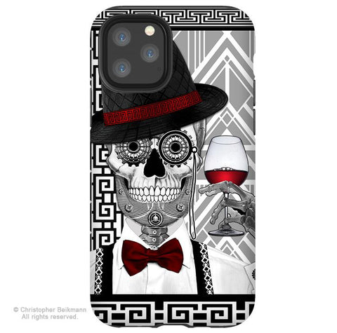 Mr JD Vanderbone - iPhone 11 / 11 Pro / 11 Pro Max Tough Case - Dual Layer Protection for Apple iPhone XI - 1920's Art Deco Sugar Skull - iPhone 11 Tough Case - Fusion Idol Arts - New Mexico Artist Christopher Beikmann