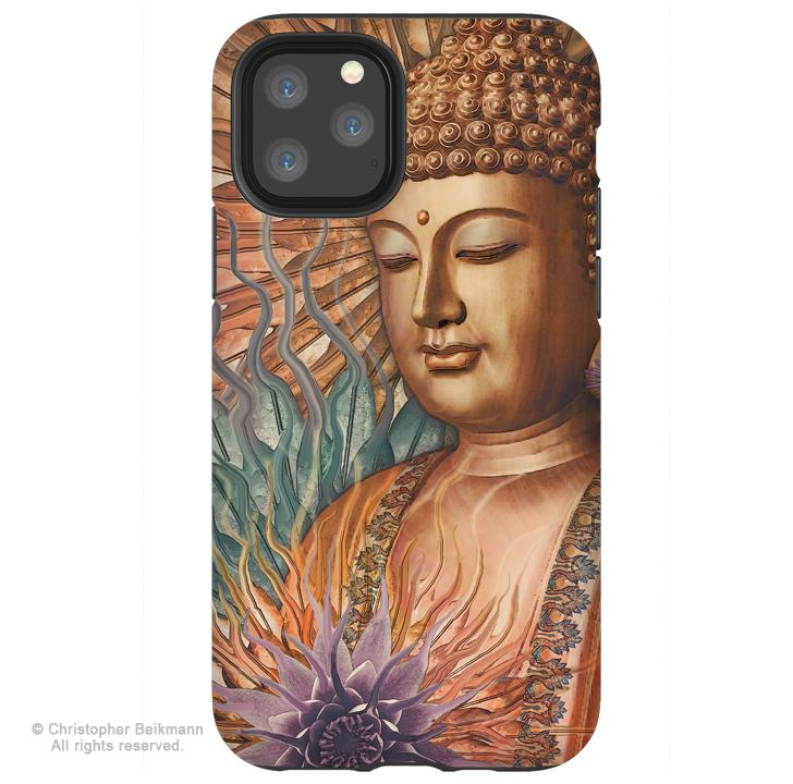 Proliferation of Peace Buddha - iPhone 11 / 11 Pro / 11 Pro Max Tough Case - Dual Layer Protection for Apple iPhone XI - Buddhist Art Case - iPhone 11 Tough Case - Fusion Idol Arts - New Mexico Artist Christopher Beikmann