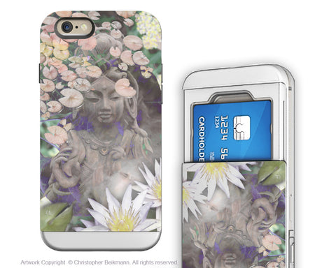 Kwan Yin Buddhist - Artistic iPhone 6 6s Case - Cardholder Case - reflections - Fusion Idol Arts