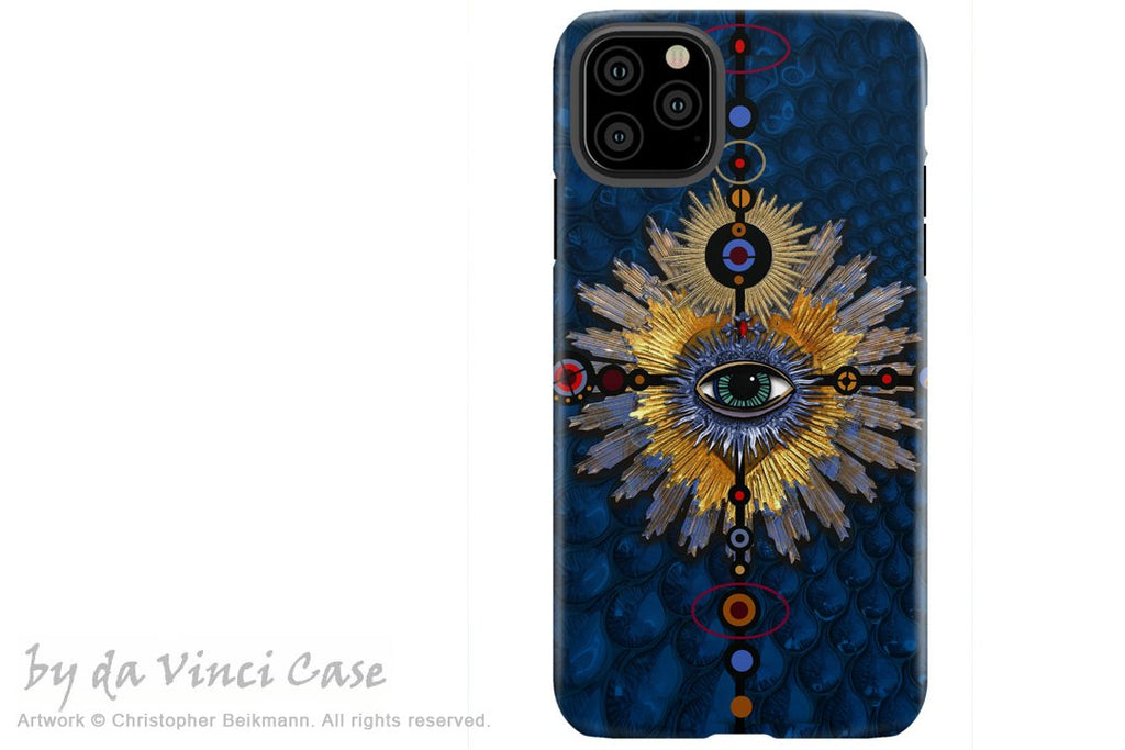 Sapphire Miracle Eye - iPhone 12 / 12 Pro / 12 Pro Max / 12 Mini Tough Case Tough Case - Dual Layer Protection for Apple iPhone XI - Esoteric Art Case - iPhone 12 Tough Case - Fusion Idol Arts - New Mexico Artist Christopher Beikmann