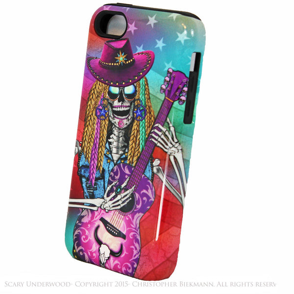 Scary Underwood - Country Girl Sugar Skull iPhone 5c TOUGH Case - Day of the Dead - Artistic Case For iPhone 5c - iPhone 5c TOUGH Case - Fusion Idol Arts - New Mexico Artist Christopher Beikmann