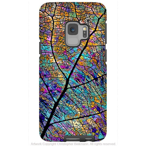 Stained Aspen - Galaxy S9 / S9 Plus / Note 9 Tough Case - Dual Layer Protection for Samsung S9 - Colorful Leaf Art Case - Galaxy S9 / S9+ / Note 9 - Fusion Idol Arts - New Mexico Artist Christopher Beikmann