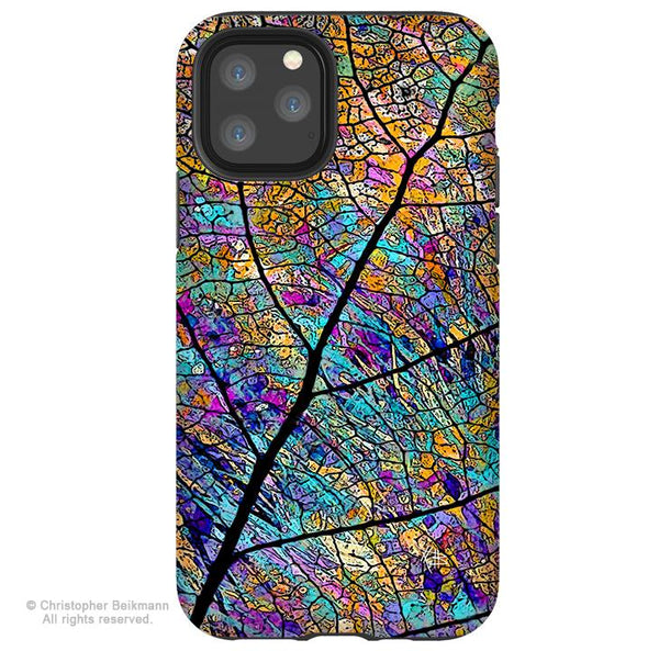 Stained Aspen - iPhone 11 / 11 Pro / 11 Pro Max Tough Case - Dual Layer Protection for Apple iPhone XI - Colorful Abstract Art Case - iPhone 11 Tough Case - Fusion Idol Arts - New Mexico Artist Christopher Beikmann