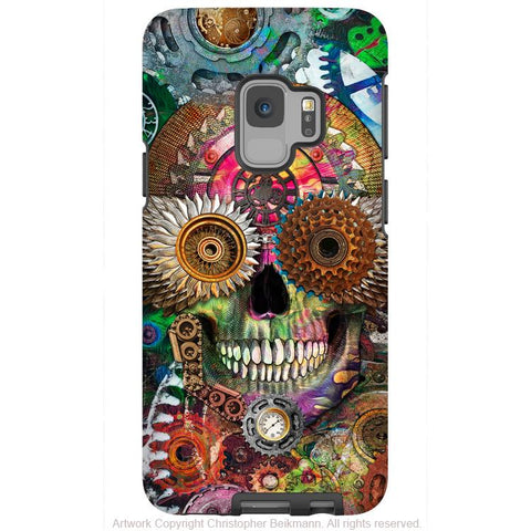 Steampunk Mechaniskull - Galaxy S9 / S9 Plus / Note 9 Tough Case - Dual Layer Protection - Galaxy S9 / S9+ / Note 9 - Fusion Idol Arts - New Mexico Artist Christopher Beikmann